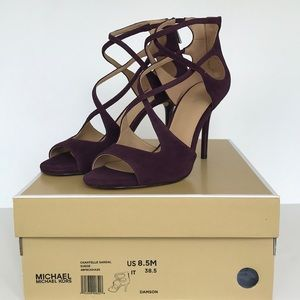 Michael Kors Chantelle sandal heels suede 8.5